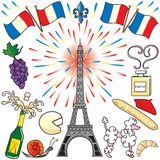 Paris, France clip art party Royalty Free Stock Images