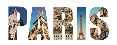 Paris France collage stock photos