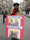 Paris, France, Congo Demonstration, Portrait  Royalty Free Stock Photo