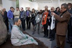Paris, France, Contemporary Arts Exhibit, FIAC,. Performance Art Show, Mitchell, Innes & Nash Gallery, New York, Obama Theme Stock Photography