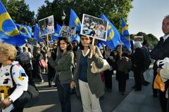 Paris, France, démonstration d'Iranien Photographie stock