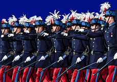 Paris, France , Day Military Parade, 14 July Royalty Free Stock Photos