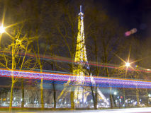 Paris, France - December 27, 2009: Christmas Light show at the E Royalty Free Stock Photography