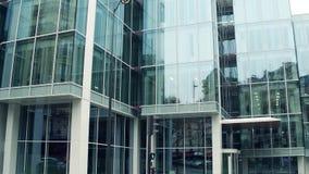 PARIS, FRANCE - DECEMBER, 31, 2016 Steadicam shot of La Francaise Global Asset Management modern office building. 4K. Clip stock footage