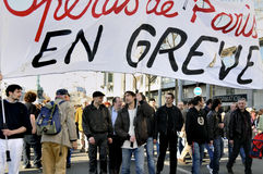 Paris, France, demonstração da associação de trabalhadores francesa imagem de stock royalty free