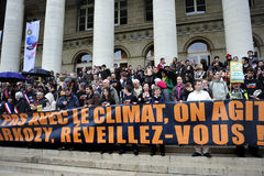 Paris, France, demonstração do aquecimento global imagem de stock royalty free