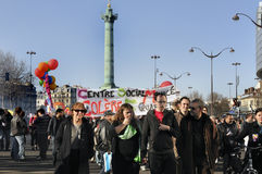 Paris, France, Demonstration of French Labor Union Royalty Free Stock Photo