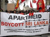 Paris, France, Demonstration, Sri Lanka Royalty Free Stock Photos