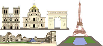 Paris France Designs Royalty Free Stock Images