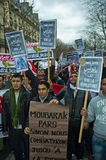 Paris, France, Egypt Demonstration Protesting Stock Image
