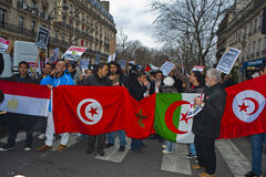 Paris, France, Egypt Demonstration Protesting Stock Images