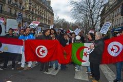 Paris, France, Egypt Demonstration Protesting Stock Images