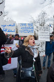 Paris, France, Egypt Demonstration Protesting Royalty Free Stock Photo
