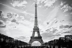 PARIS FRANCE EIFFEL TOWER. The Eiffel Tower, Paris, France, analog film style Royalty Free Stock Image