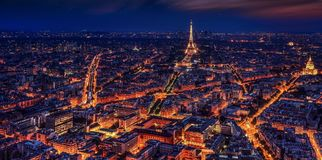 Paris, France, Eiffel Tower, Night Royalty Free Stock Images