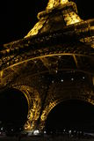 Paris, France - The Eiffel Tower at Night March 2010 Royalty Free Stock Photos