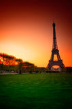 Paris (France) - Eiffel Tower after Sunset Stock Image