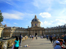 Paris, France : En juillet 2014 - amour Lo de Paris Bridge's Pont des Arts Image libre de droits
