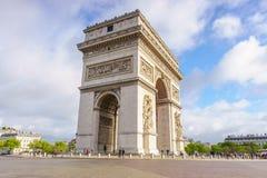 Paris, France - 1er mai 2017 : Voûte d'Arc de Triomphe de Triumph Photographie stock