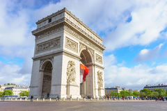 Paris, France - 1er mai 2017 : Voûte d'Arc de Triomphe de Triumph Photos libres de droits