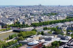 Skyline of Paris Stock Photos