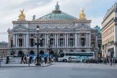 The façade of the Palais Garnier opera house. Famous architecture of Paris. 05.05.2008, Paris, France. The façade of the Palais Garnier opera house royalty free stock images