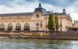 Paris, France, facade of the Orsay modern art Museum Royalty Free Stock Image