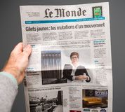 Annegret Kramp-Karrenbauer on Le monde French newspaper cover
