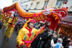 PARIS, FRANCE - FEBRUARY 10: Chinese New Year Royalty Free Stock Image