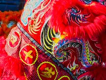 Chinese new year 2019 Paris France - Lion dancing royalty free stock photography