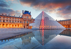 Paris, France - February 9, 2015: The Louvre Museum is one of th Royalty Free Stock Images