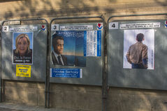 Paris, France, French Presidential Posters Royalty Free Stock Photography