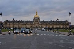 Paris, France - 02/08/2015: Front view of the Army museum `Les Invalides` stock images