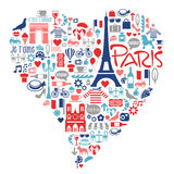 Paris France icons, landmarks, attractions Stock Photo