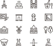 Paris and france icons  Royalty Free Stock Photo