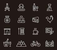 Paris, France icons Stock Photo