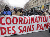 Paris, France, Immigration Rights Demonstration, Stock Photo