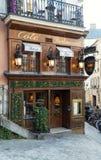 The Relais de la butte is historical restaurant located in Montmatre area of Paris, France. Paris, France-January 14, 2018: le Relais de la butte is historical Royalty Free Stock Photos