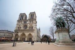 PARIS, FRANCE - JANUARY 25, 2015: Notre-Dame de Paris is a medie Stock Images