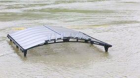 Flood in Paris stock footage