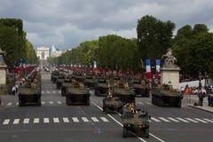 Paris, France - 14 juillet 2012 Cortège d'équipement militaire pendant le défilé militaire à Paris Photographie stock