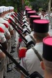 Paris, France - 14 juillet 2012 Les soldats de la légion étrangère française marchent pendant le défilé militaire annuel à Paris Images stock