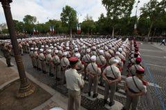Paris, France - 14 juillet 2012 Les soldats de la légion étrangère française marchent pendant le défilé militaire annuel à Paris Photographie stock