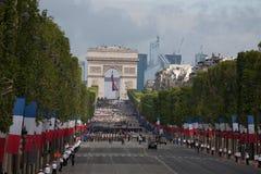 Paris, France - 14 juillet 2012 Les soldats de la légion étrangère française marchent pendant le défilé militaire annuel Image stock