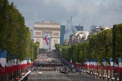 Paris, France - 14 juillet 2012 Les soldats de la légion étrangère française marchent pendant le défilé militaire annuel Images stock