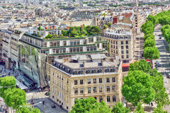 PARIS, FRANCE - JULY 06, 2016: Beautiful panoramic view of Paris Royalty Free Stock Photography
