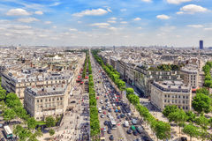 PARIS, FRANCE- JULY 06, 2016 : Beautiful panoramic view of Paris Royalty Free Stock Image