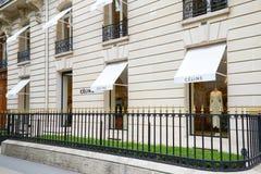 Celine fashion luxury store in avenue Montaigne in Paris, France