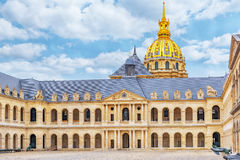 PARIS, FRANCE - JULY 01, 2016 : Courtyard of Les Invalides hote stock photography