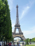 Paris France - July 2014 -Eiffel tower tourist Royalty Free Stock Photography